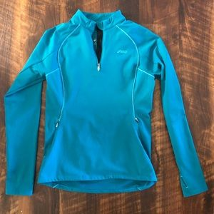 Asics Quarter Zip Pullover with Thumbholes Size S